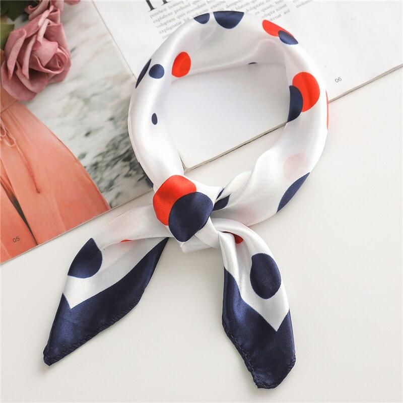 Luxury Brand 2020 Women Small Silk Scarves Square Lady Hair Neck Scarf Wrap Office Handkerchief Foulard 50*50cm Shawls