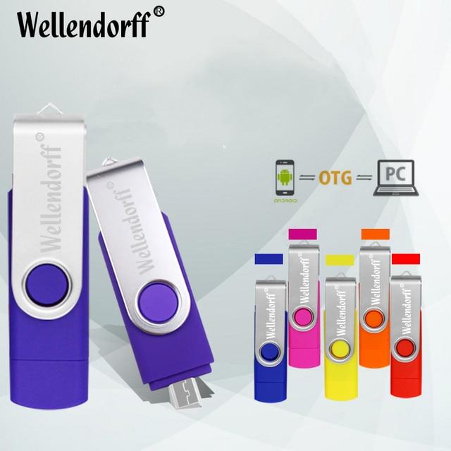 Wholesale OTG USB Flash Drive 64gb 32gb Pen Drive 8gb 16gb USB 2.0 Pendrive USB Stick Flash Drive for Android Smartphone
