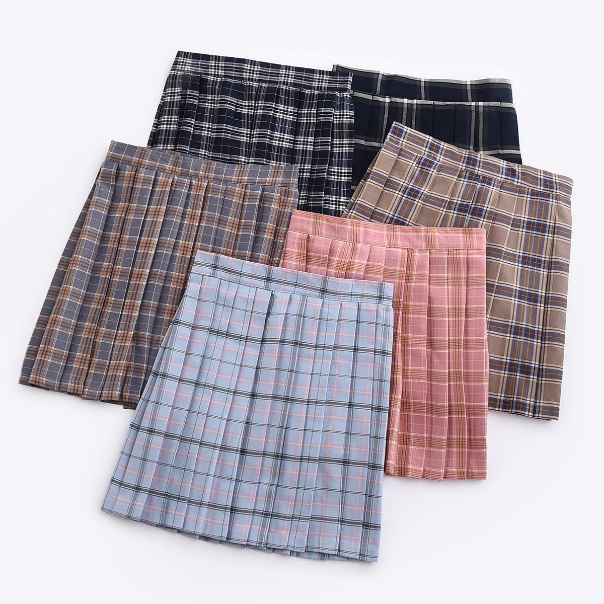 Hot Japanese Korean Version Short Skirts School Girl Pleated Half Skirt School Uniform Cosplay Student Jk Academy 17 Colors 5xl