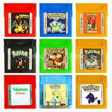 Juego Pokemon Nintendo GBC Serie Primera Recopilación Cartucho de Consola de Videojuegos Tarjeta Inglés Versión