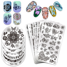 BORN PRETTY Nail Stamping Template Butterfly Flower Series Manicure DIY Image Plate Art Decoration Accessory