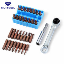 33pcs Screwdriver Bit Set S2 Steel 25mm Shaped Screw Driver Set Torx Phillips Hex Screwdriver Bits With 1/4 Magnetic Bit Holder(China)