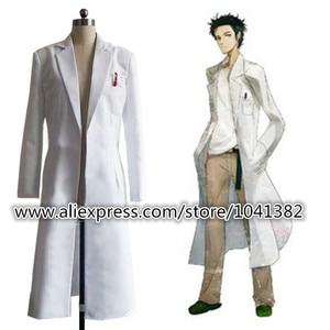 Image 1 - Steins Gate Chaqueta larga de Cosplay, chaqueta blanca