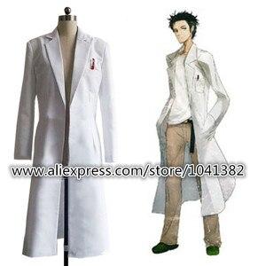 Image 1 - Steins Gate Okabe Rintarou Cosplay Costume Coat Long Jacket White Jacket costume
