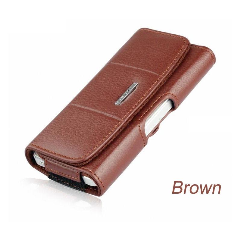 Belt Clip Holster Kulit Kasus Ponsel Kantung Untuk iPhone 7 6 6 S - Aksesori dan suku cadang ponsel - Foto 4
