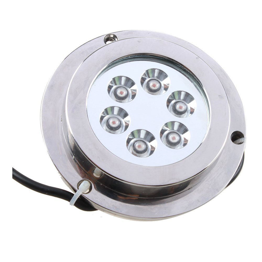 Useful 6*2w Red Stainless Steel IP68 Waterproof LED Marine Underwater Light Boat Yacht light