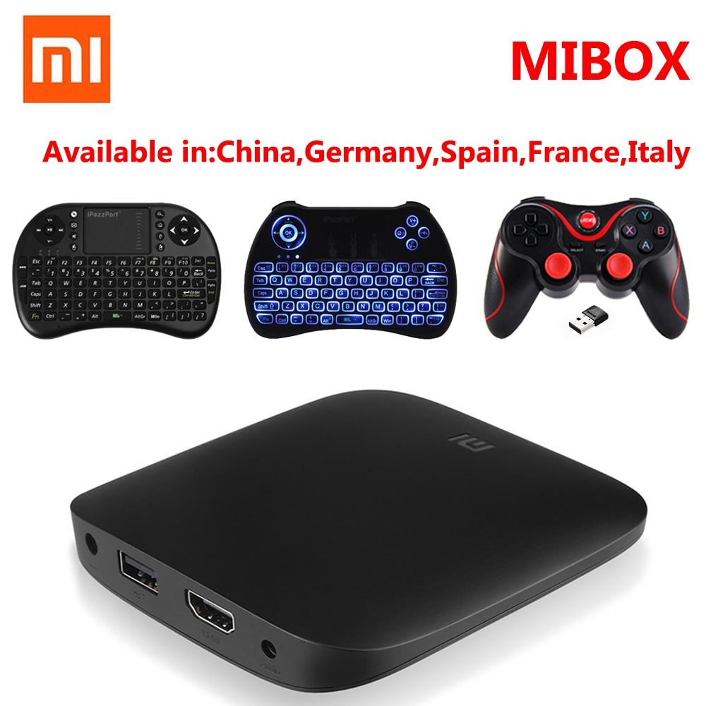 Оригинал Сяо mi ТВ коробка 3 Smart 4 К Ultra HD 2 г 8 г Android 6,0 фильм WI-FI google Cast WI-FI Bluetooth Media Player телеприставке