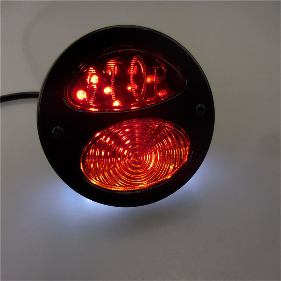 12V Motorcycle 35LED Tail Light red Brake Light white License Plate Light in Signal Lamp from Automobiles Motorcycles