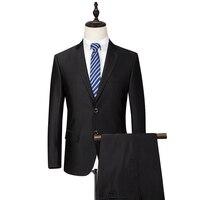 Blazer + calças para os homens de Alta Qualidade estilo Clássico Calças de casamento ternos Pretos Formais Blazer Vestido de Negócios Gent Profissional Vida
