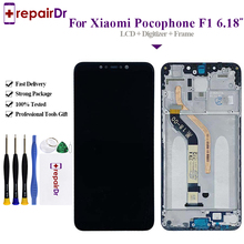 Original New For Xiaomi Pocophone F1 LCD Display Touch Screen Digitizer Assembly With Frame For Xiaomi Pocophone F1 LCD Screen цены