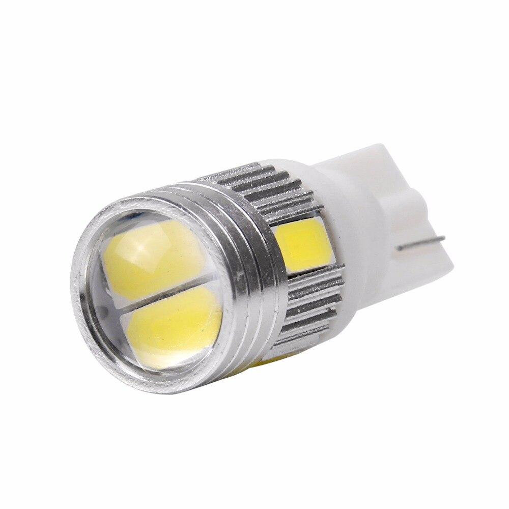 10Pcs T10 5630 6SMD W5W Canbus Error Free COB Wedge Side LED Light Bulbs 168 194