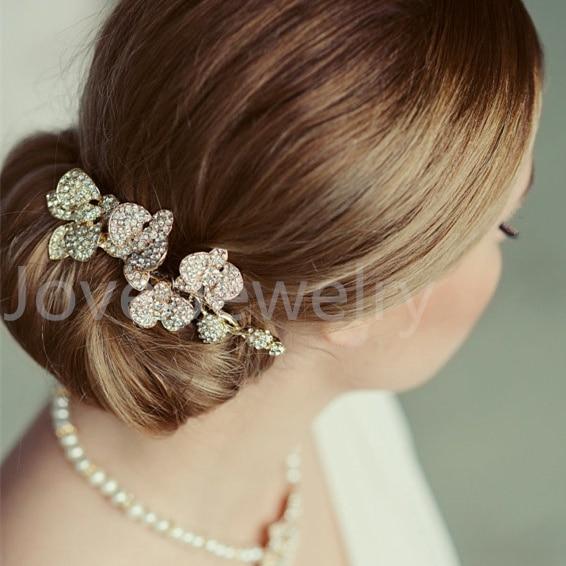 Modni poročni dodatki Charm avstrijski kristalni cvetlični list - Modni nakit - Fotografija 3