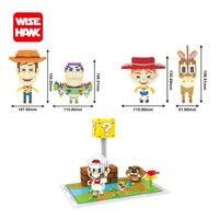 Wisehawk мини блоки игрушки История микро Базз Вуди Супер Марио Мини Строительные кирпичи развивающие детские игрушки