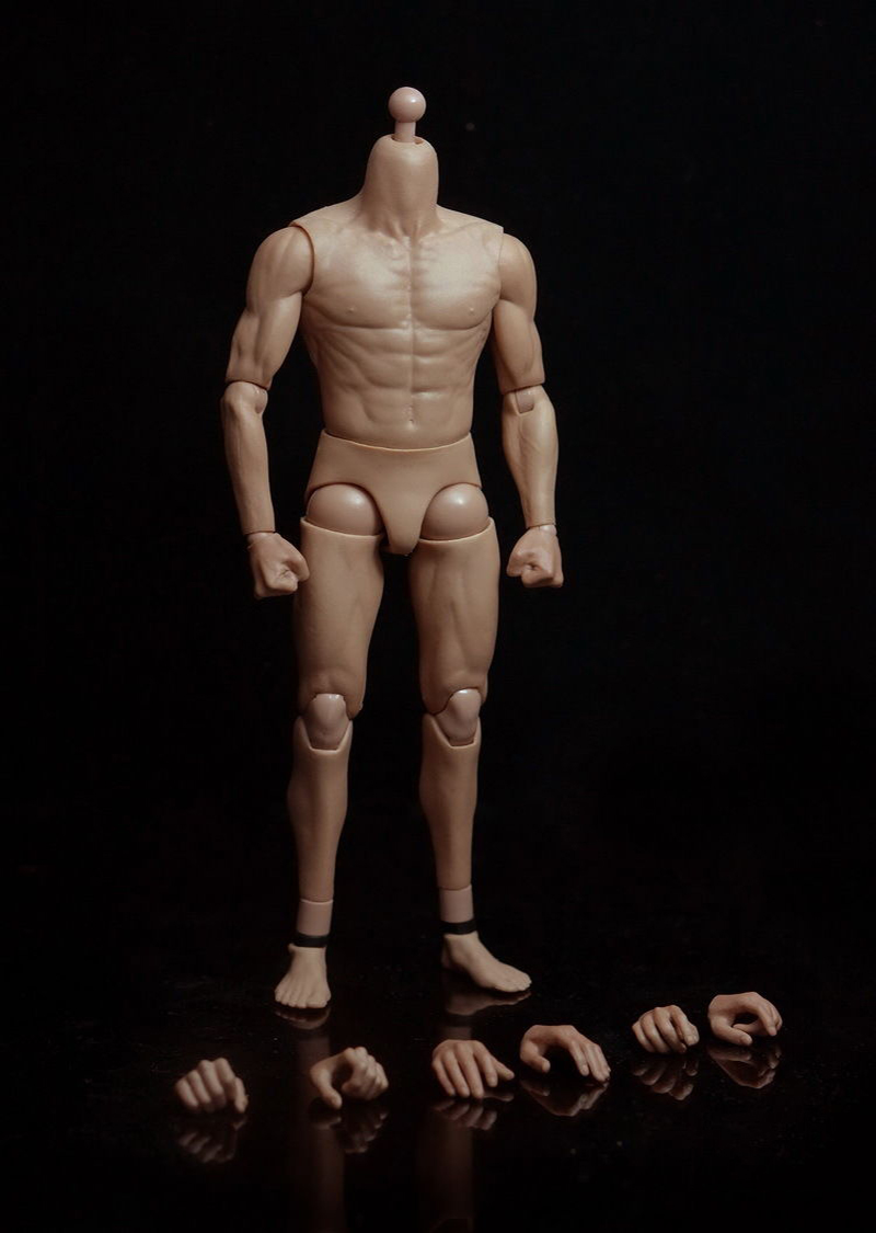 G002 12 Asian Muscle Body for 1/6 Male Head Sculpt Collections Toys Gifts