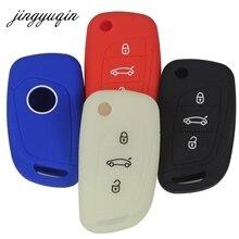 jingyuqin 30pcs Silicone Key Cover For Citroen C2 C3 C4 C4L C5 DS4 For Peugeot 107 207 307 407 308 607 Modified Flip Fob Case