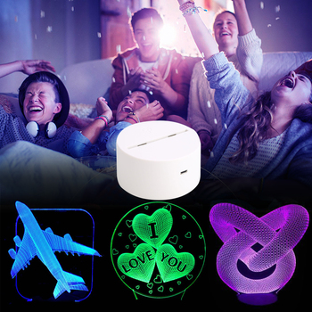 3D Luminous Lamp Holder for Light Up Night Light for Lamp Base Gift Light Base Display Home for Romantic Dropshipping pocket
