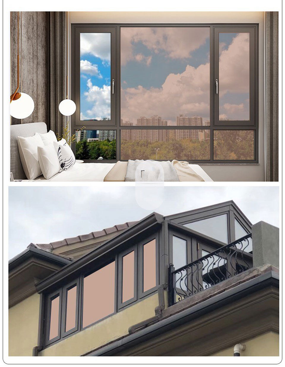 One way Perspective Solar Mirror Film Glass Film Window Stickers Anti UV Tint Office Building Glass Window Decorative Film 300cm in Decorative Films from Home Garden