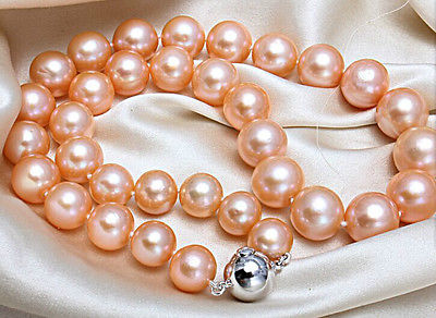 AAA10-11mm south sea round gold pink pearl necklace 18inch silver >Selling jewerly free shipping наволочки other 45 45 18inch
