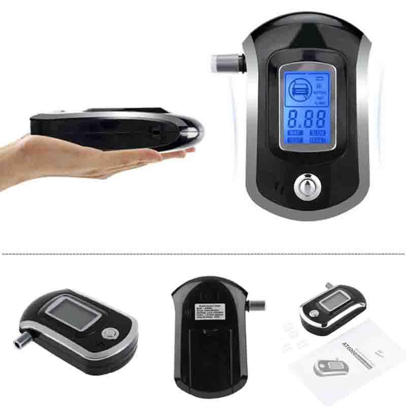 Display Digital LCD Alert Breath Alcohol Tester Prefessional Police Alcohol Breathalyzer Analyzer Parking Breathalyser цена