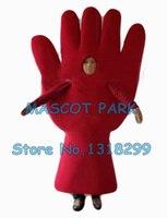 Rot/blau hände maskottchen kostüm förderung cartoon hände palm gesundheit thema anime cosply kostüme karneval kostüm 2882