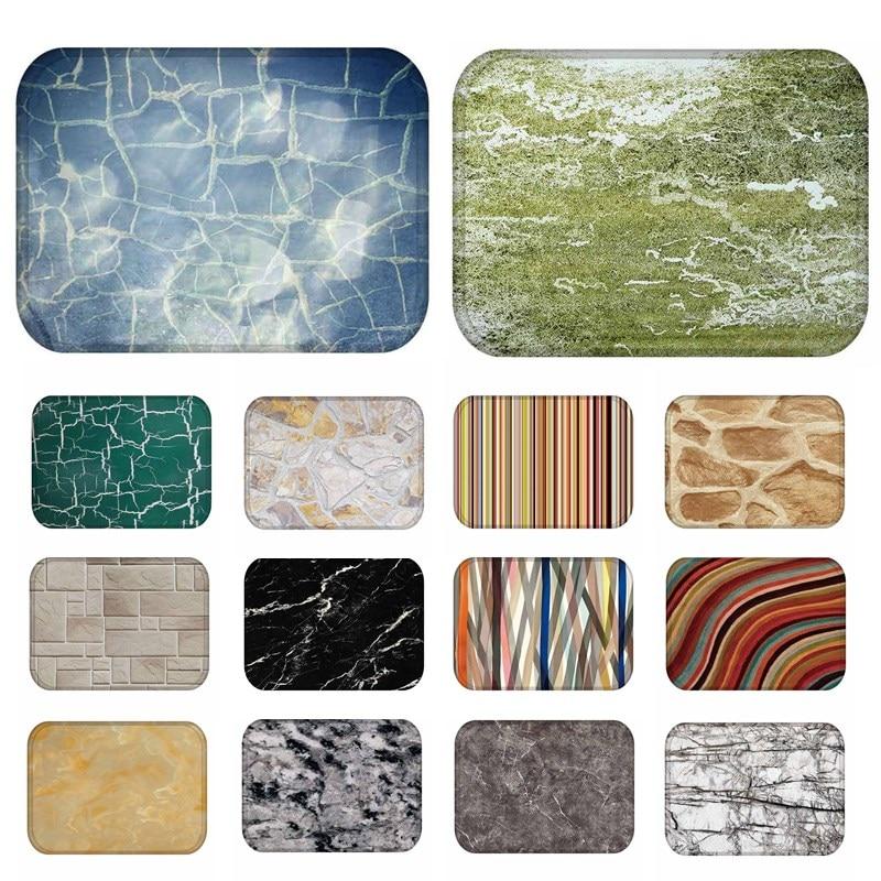 1pcs 40*60cm abstract stripe pattern anti slip suede carpet door mat