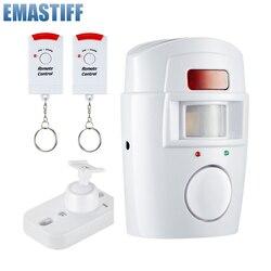 Bezpieczeństwa w domu PIR MP alarm czujnik podczerwieni Anti-theft czujnik ruchu z alarmem Monitor bezprzewodowy system alarmowy + 2 pilot zdalnego sterowania