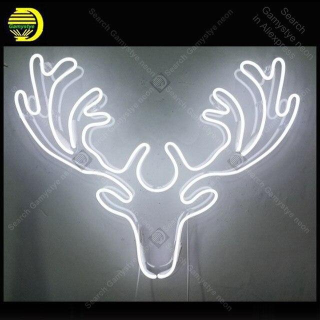 사슴 네온 사인 수제 네온 라이트 장식품 호텔 비즈니스 홈 침실 아이코닉 아트 네온 램프 클리어 보드 램프 아트웍