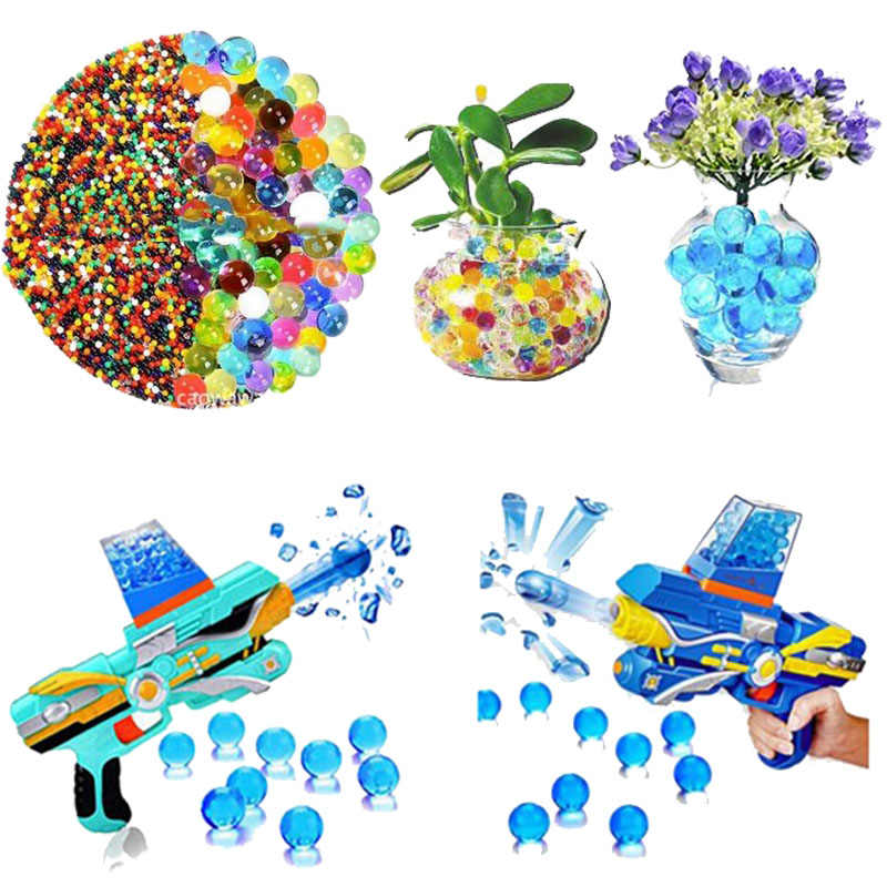 Crystal Soil Water Beads Jelly Mud Crystal Magic Balls Meter Aqua Soil Moisture Sensor Thermometer Water Beads About 100pcs/Bag