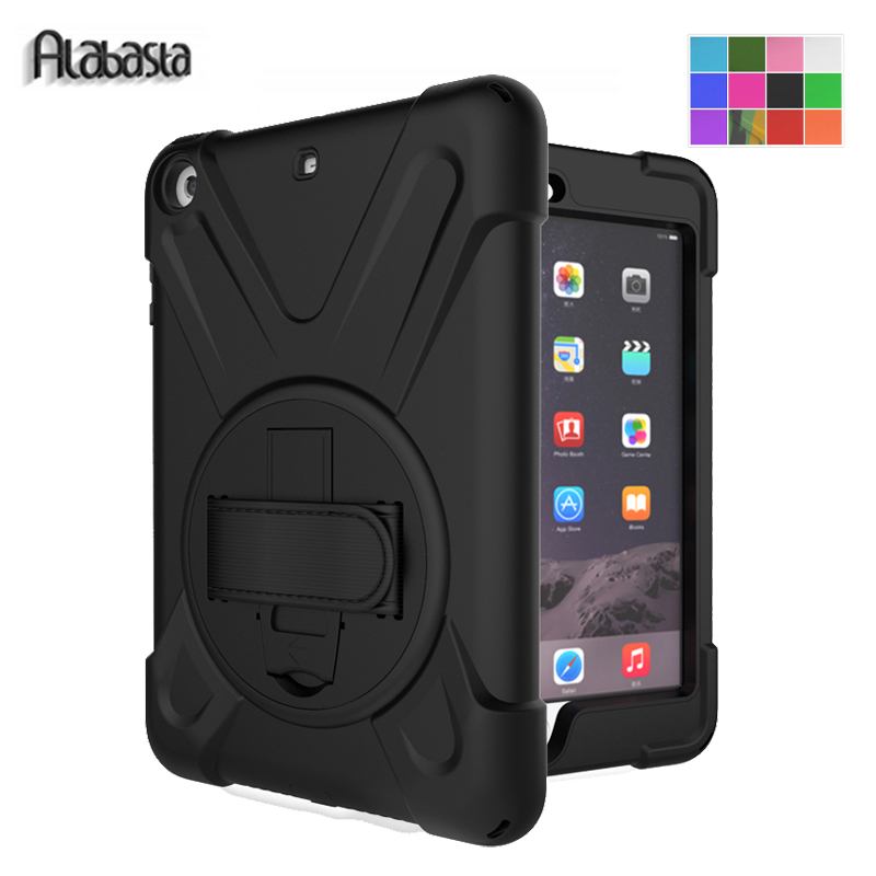 Alabasta for Apple iPad mini 1 2 3 case Hand Strap 360 Degree Rotation Armor 7.9 inch kickstand Pc + Silicone 7.9 Shockproof pen alabasta for apple ipad mini 1 2 3 case hand strap 360 degree rotation armor 7 9 inch kickstand pc silicone shockproof pen