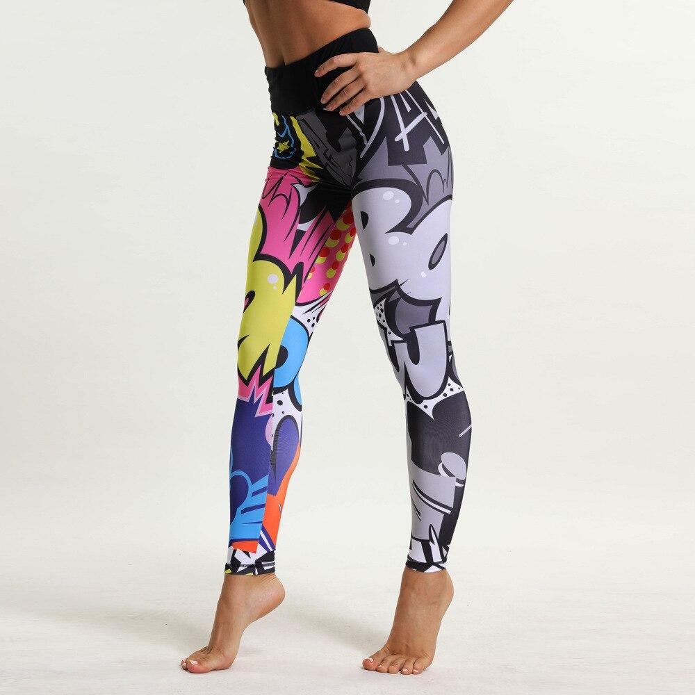 2018 New Cartoon Printed Sporting Women Leggings Fashion 3D Print Skinny Dry Quick Pants High Elastic Fitness Leggings Drop Ship