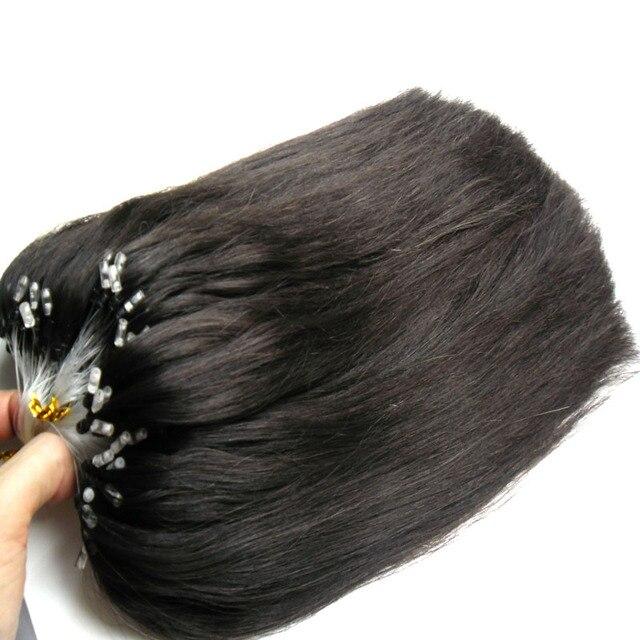 8a Brazilian Virgin Human Remy Hair Natural Black Micro Loop Hair