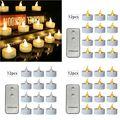 12 шт. Мерцающие светодиодные свечи с пультом дистанционного управления беспламенный Электрический Tealight