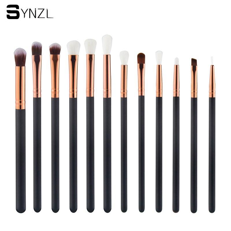 Di alta qualità 12 Pz Dell'ombretto di Fusione Pennelli Eye Pencil ombra Pennelli Trucco Rosa make up brush set