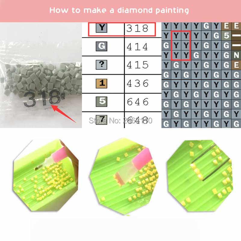 """H434 5D DIY Diamond Lukisan Cross Stitch """"Sherlock Holmes"""" Penuh Bor Square Diamond Bordir Diamond Mosaik Dekorasi Rumah"""