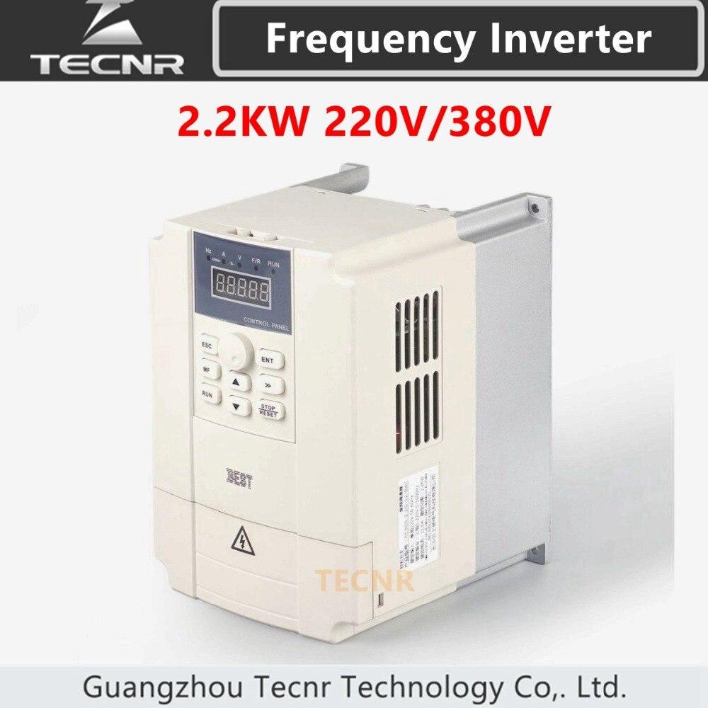 2.2kw Variable Frequency Drive VFD Inverter 220V 380V For CNC Spindle Motor Speed Control
