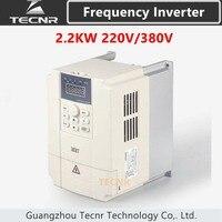 Inversor variável 220 v 380 v da movimentação vfd da frequência 2.2kw para o controle de velocidade do motor do eixo do cnc