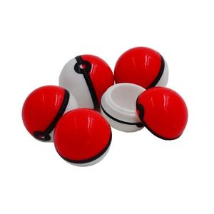 Image 5 - 20pc 6ml pokeballs silicone concentrado recipiente bola ou não vara cera pokeball óleo creme frascos dab & butano óleo ou frasco de óleo slick