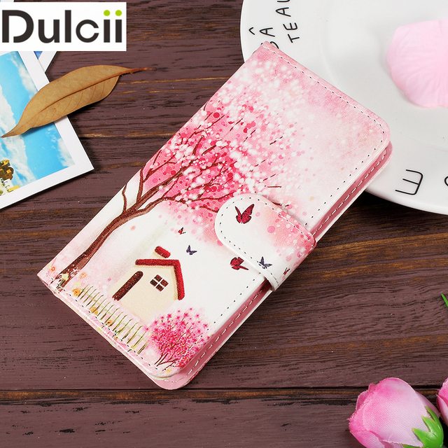 Dulcii For Lenovo A 319 Cover Patterned PU Leather Flip Phone Case Lenova Chekhol na for Lenovo A319