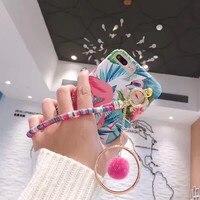Merry Christmas 3D Chain Hand String Velet Flower Printing Plastic Mobile Phone Housing For IPhoneX 10