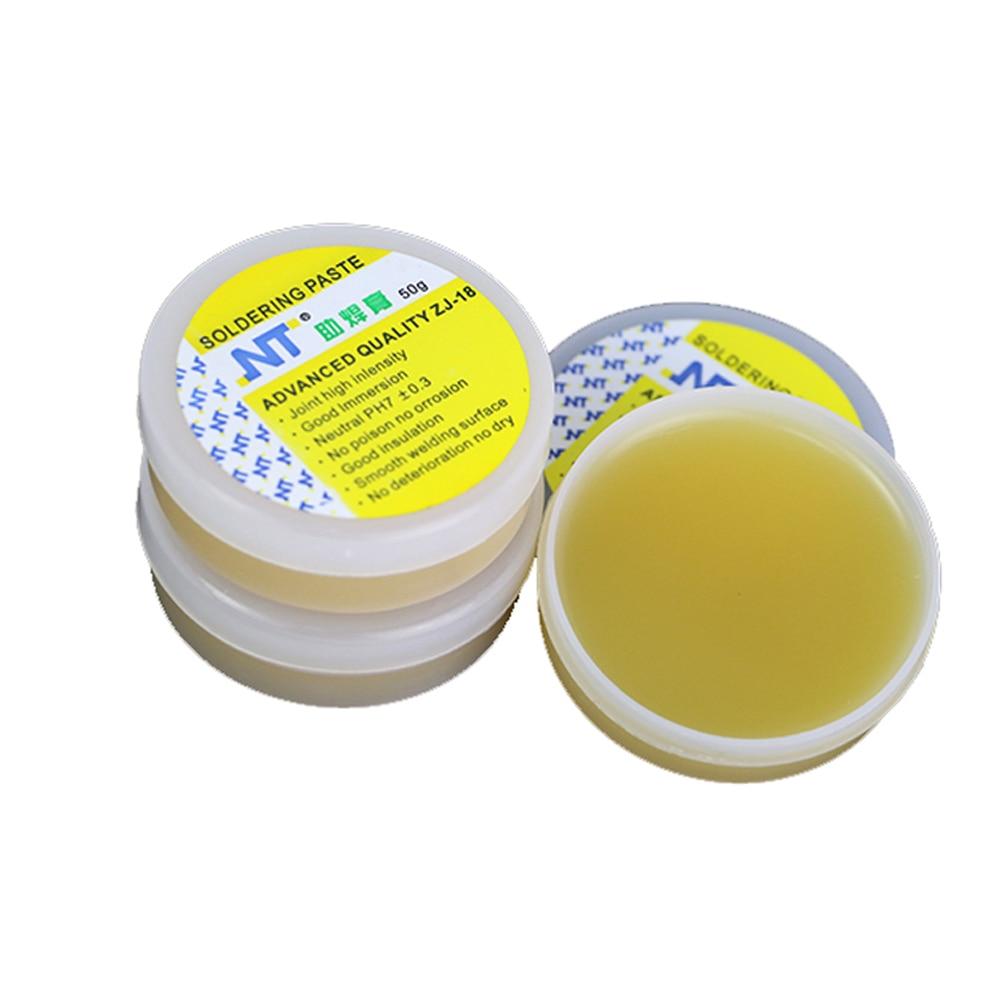 NT ZJ-18 50g 80g 150g Yellow Welding Oil Advance Quality Phone Repair Solder Flux Soldering Paste High Intensity Free Rosin