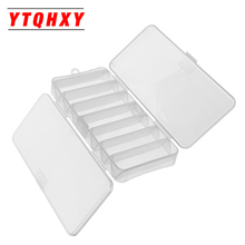 YTQHXY 19*8.5*3cm Fish Lures Cases 14 Compartments Double Sided Spinner Multi-function Fly Fishing Storage Tackle Box YE-62