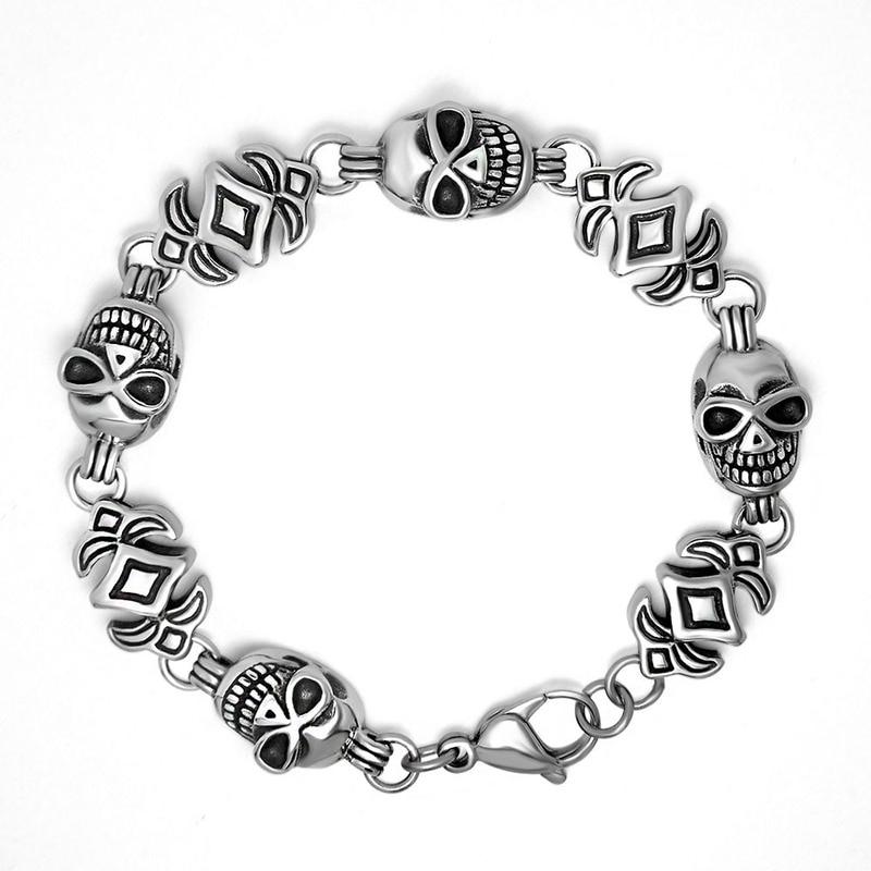 Dongguan bijoux titane acier hommes bracelet personnalité crânes punk bracelet bracelet accessoires CE506