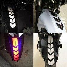 Наклейка на мотоцикл с отражающим колесом, наклейка на крыло, водонепроницаемая, 34x5 см