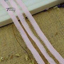 224 розовый цвет гребешок резинки 8 ярдов/партия стрейч эластичный кружевной край отделка шитье ребенка женщина мужчина нижнее белье брюки ткань