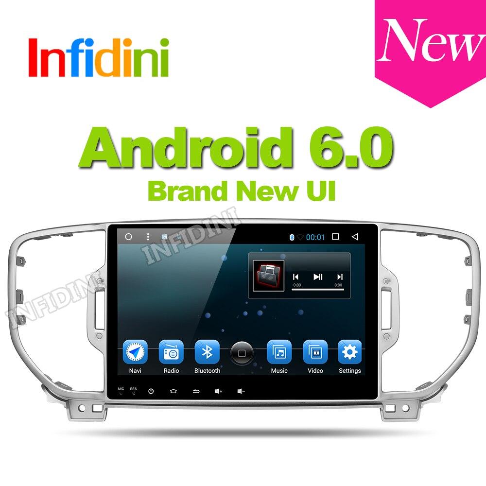 Android 6 0 car dvd player 4g 1024 600 kia sportage 2016 2017 car pc gps navigation 1 din car stereo head unit gps dvd player
