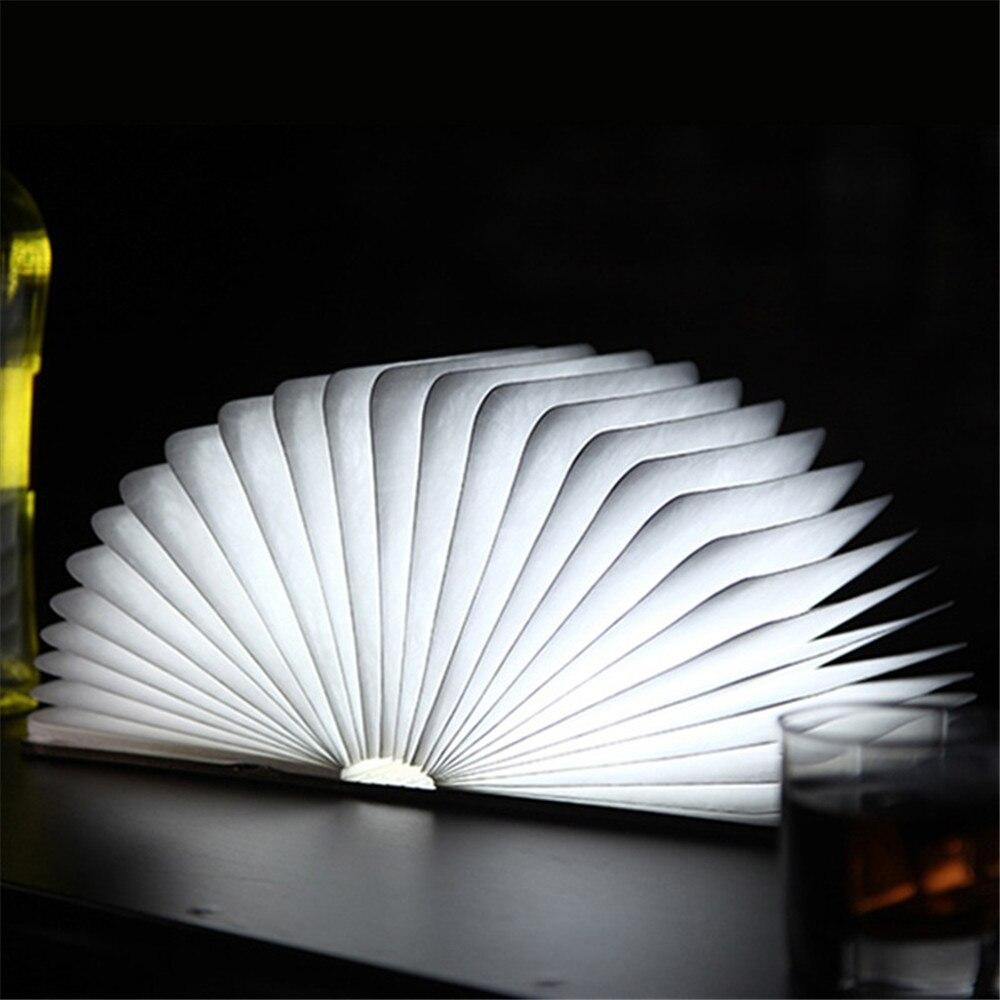 2017 White/Warm White LED Book Light Creative Folding LED Nightlight Best Home Decorative USB Rechargeable Illumination-3D-TD261