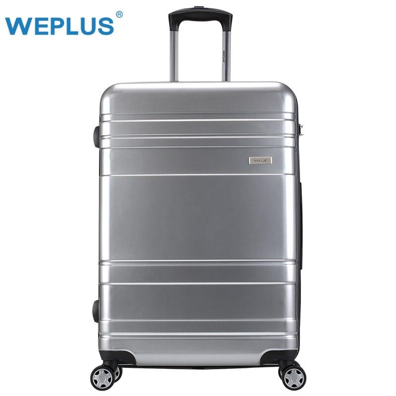 WEPLUS чемодан бизнес сумки на колёсиках Дорожный чемодан с колёса TSA замок Spinner заказ стержень коробка для женщин мужчин 20 24 28 дюймов