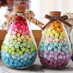 Free Shipping(90 Strips/package)30 Candy Colors Handcraft Origami Lucky Star Strips DIY Paper Decoration Wishing Bottle Gift