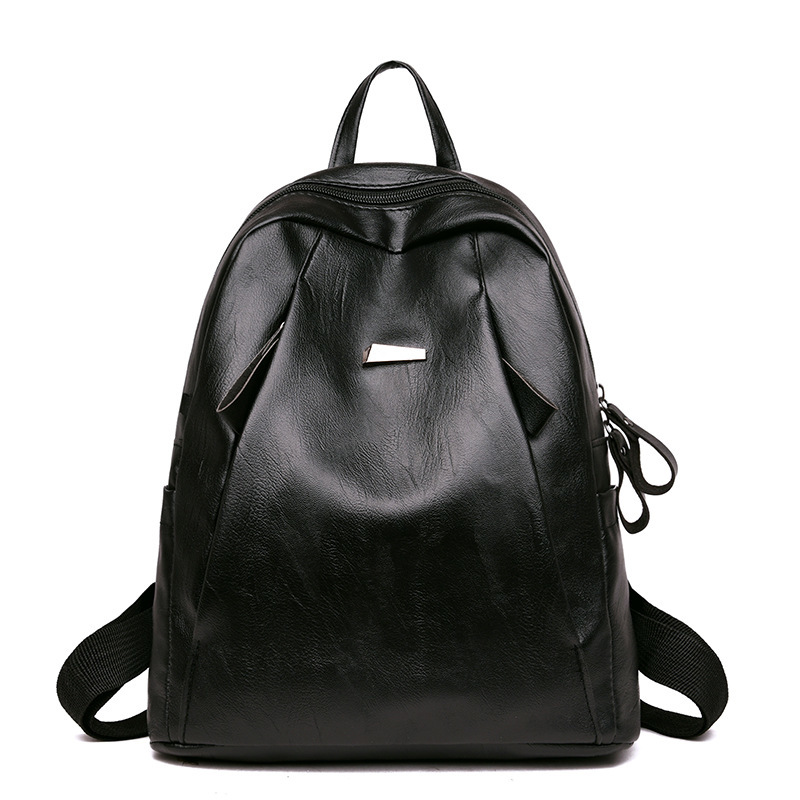 NPASON 2018 Shoulders Package Woman Backpack PU Leather Package Soft Leather Travel Backpack Grils Leisure Time Message Bag