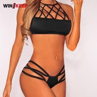 2017 New Fashion Woman Swimwear Brazilian Bikinis Push Up Beach Wear Biquini Sexy Lady Bikinis Set